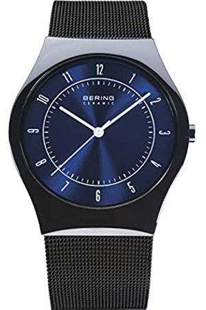 BERING Hombre Relojes - Ceramic - Reloj analógico de caballero de cuarzo con correa de acero inoxidable negra - sumergible a 30 metros