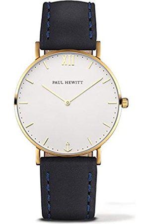 Paul Hewitt PaulHewittRelojanalogicoparaUnisexdeCuarzoconCorreaenPielPH-SA-G-Sm-W-11M