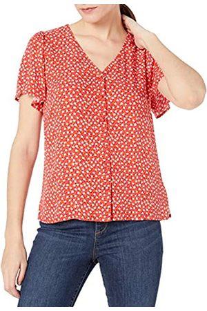 Goodthreads Fluid Twill Covered-Button Short-Sleeve Shirt Dress-Shirts