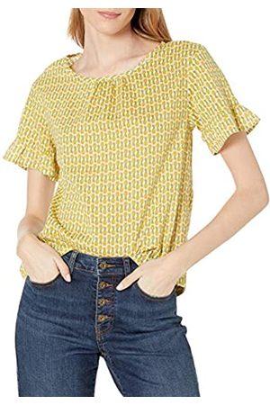 Goodthreads Cotton Dobby Flutter-Sleeve Woven tee Camisa XXL