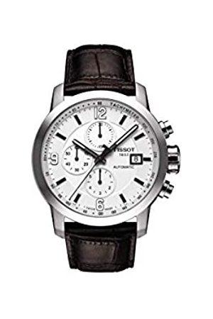 Tissot Reloj de Vestir automático de Acero Inoxidable y Cuero para Hombre (Modelo: T0554271601700)