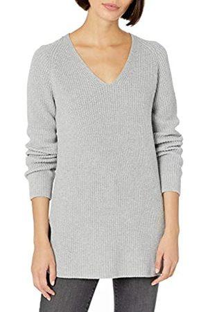 Goodthreads Cotton Half-Cardigan Stitch Deep V-Neck Sweater Suéter M