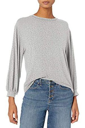 Daily Ritual Rayon Spandex Wide Rib Blouson-Sleeve Sweatshirt Athletic-Shirts S
