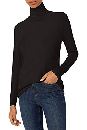 Daily Ritual Mujer Blusas - Rayon Spandex Fine Rib Long-Sleeve Layering Turtleneck Shirts