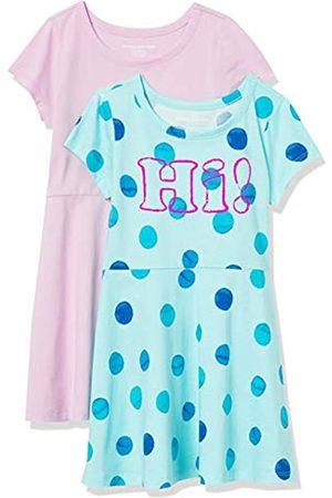 Amazon Paquete de 2 Vestido de Manga Corta para niña Playwear-Dresses S
