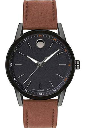 Movado Hombre Relojes - Reloj Analógico para Hombre de Cuarzo con Correa en Cuero 0607224