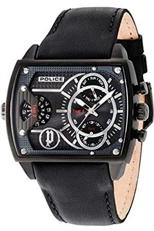 Police Hombre Relojes - Reloj Analogico para Hombre de Cuarzo con Correa en Piel PL14698JSB.13A