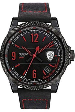 Scuderia Ferrari OROLOGI Hombre Reloj de Pulsera Formula Italia S analógico de Cuarzo Piel 0830271