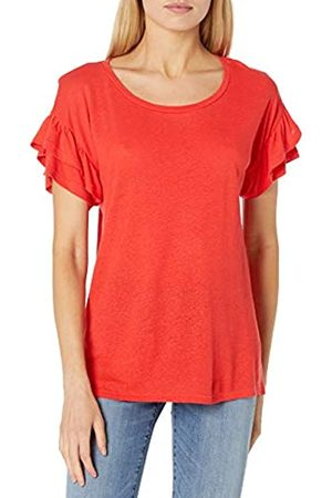 Goodthreads Linen Modal Jersey Tab Sleeve tee Camisa