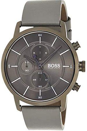 HUGO BOSS Hombre Relojes - Reloj Cronógrafo para Hombre de Cuarzo con Correa en Cuero 1513570