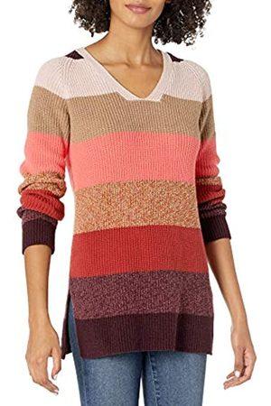 Goodthreads Cotton Half-Cardigan Stitch Deep V-Neck Sweater Pullover-Sweaters XL