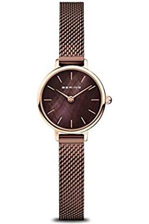 Bering Reloj Analógico Classic Collection para Mujer de Cuarzo con Correa en Acero Inoxidable y Cristal de Zafiro 11022-265