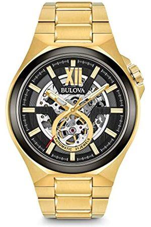 BULOVA Hombre Relojes - Reloj Analógico para Hombre de Automático con Correa en Acero Inoxidable 98A178