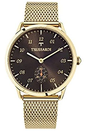 TRUSSSARDI Hombre Relojes - RelojAnalógicoparaHombredeCuarzoconCorreaenAceroInoxidableR2453116001