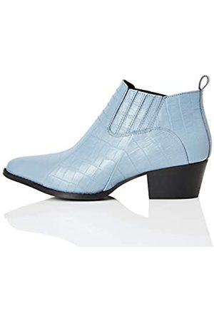 FIND Mujer Botas camperas y bikers - FIND Shoe Boot Botas Camperas, (Blue Croc)