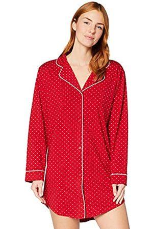 IRIS & LILLY Mujer Camisones y vestidos - Camisón de Manga Larga de Algodón Mujer, XL