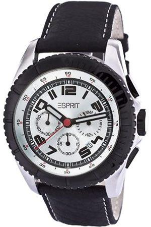 Esprit Hombre Relojes - Moto White LB ES101891008 - Reloj cronógrafo de Cuarzo para Hombre, Correa de Cuero Color (cronómetro