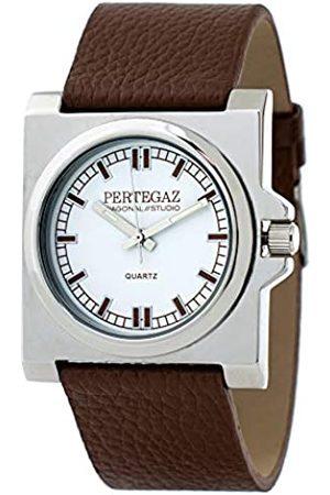 Pertegaz Relojes - Reloj Analógico para Adultos Unisex de Cuarzo con Correa en Cuero PDS-018-M