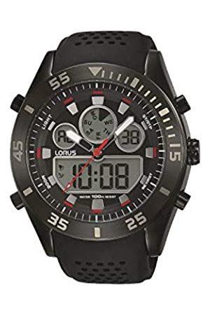 Lorus Hombre Relojes - Reloj Digital para Hombre de Cuarzo con Correa en Silicona R2335LX9