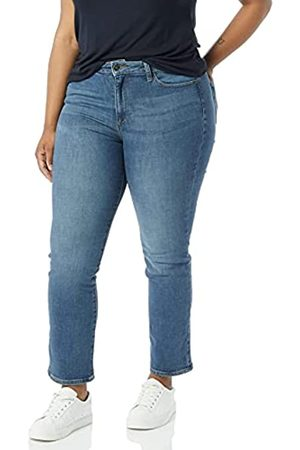 Goodthreads Mujer Cintura alta - High Rise Slim Straight Jeans, (Authentic Blue)