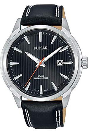 Seiko Pulsar Reloj analogico para Hombre de Cuarzo con Correa en Piel PS9585X1