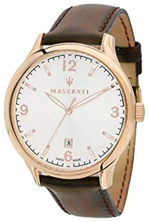 Maserati Reloj para Hombre, Colección ATTRAZIONE, en Acero