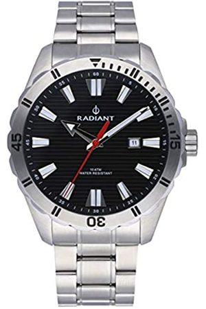 Radiant Hombre Relojes - Reloj analógico para Hombre de . Colección Tagrad. Reloj con Brazalete y con Bisel Plata y Esfera Negra. 10ATM. 44mm. Referencia RA480204.