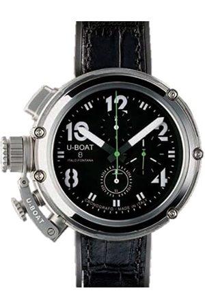 U-BOAT – Reloj de Pulsera Hombre U de 51 Chrono BK WH gr Cronógrafo Automático 6246