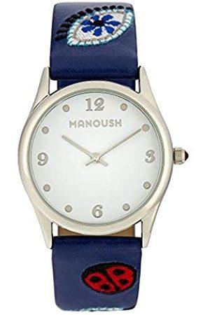Manoush RelojAnalógicoparaUnisexAdultosdeCuarzoconCorreaenPUMSHPA01