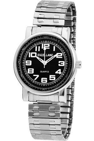 Excellanc Hombre Relojes - 272421000012 - Reloj analógico de caballero de cuarzo con correa de aleación plateada