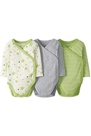 Moon and Back by Hanna Andersson Bebé Bodies bebé - 3 Pack Long Sleeve Side Snap Bodysuit Infant-and-Toddler-Bodysuits, 0 Meses