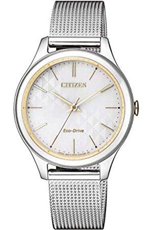 Citizen Mujer Relojes - Reloj Analógico para Mujer de Cuarzo con Correa en Acero Inoxidable EM0504-81A