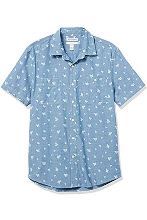Amazon Hombre Casual - Slim-Fit Short-Sleeve Chambray Shirt Button-Down-Shirts