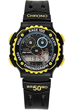 Digi-Tech Hombre Relojes - Reloj Digital para Hombre de Cuarzo con Correa en Caucho DT102917
