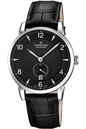 Candino Reloj Hombre de Cuarzo con Esfera analógica Pantalla y Correa de Cuero C4591/4