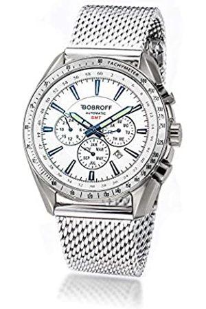 BOBROFF Reloj Analogico para Hombre Automatico con Correa En Acero BF0015V2-S001