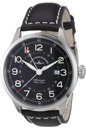 Zeno 6302GMT-a1 - Reloj analógico automático para Hombre con Correa de Piel
