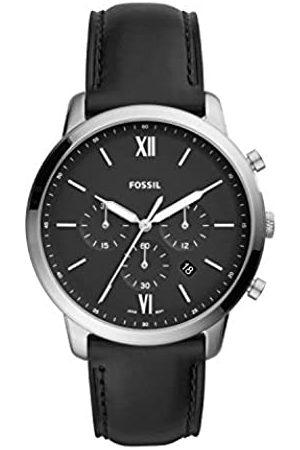 Fossil Reloj Cronógrafo para Hombre de Cuarzo con Correa en Cuero FS5452