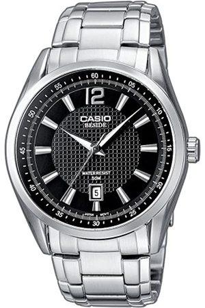 Casio BEM-117D-1AVEF - Reloj analógico de Cuarzo para Hombre con Correa de Acero Inoxidable