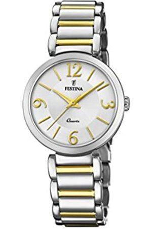 Festina Mujer Relojes - Reloj Análogo clásico para Mujer de Cuarzo con Correa en Acero Inoxidable F20213/1