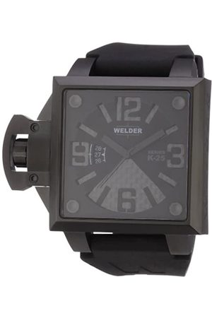 Welders K25 4104 - Reloj analógico de caballero de cuarzo con correa de goma negra - sumergible a 50 metros
