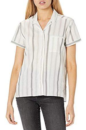 Goodthreads Mujer Blusas - Camisa de Campamento de algodón Dobby Shirts 42-44