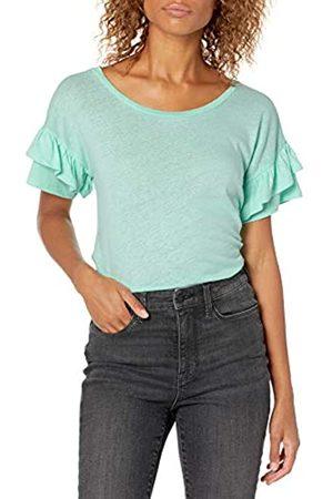 Goodthreads Mujer Camisetas y Tops - Linen Modal Jersey Tab Sleeve tee Fashion-t-Shirts