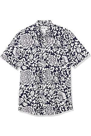 Amazon Regular-Fit Short-Sleeve Shirt Camisa, Floral Grande /