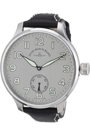 Zeno Super Oversized 9558SOS-6-pol-a3 - Reloj analógico Manual para Hombre, Correa de Cuero Color (Agujas luminiscentes