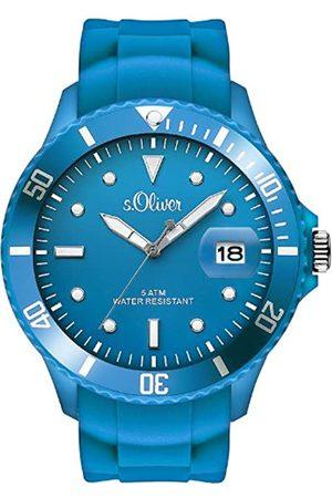 s.Oliver SO-2679-PQ - Reloj analógico para Caballero de Silicona