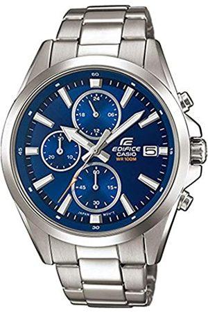 Casio EDIFICE Reloj en caja sólida, 10 BAR, para Hombre, con Correa de Acero inoxidable