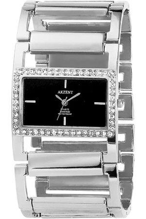 Akzent Mujer Relojes - SS8121000002 - Reloj analógico de mujer de cuarzo con correa de aleación plateada - sumergible a 30 metros