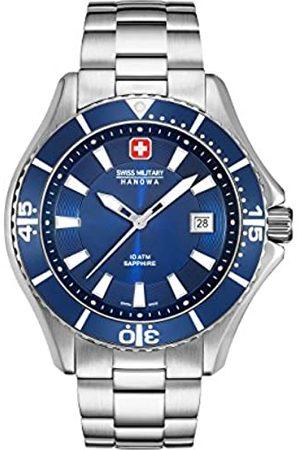 Swiss Military Hanowa Hombre Relojes - Reloj Analógico para Hombre de Cuarzo con Correa en Acero Inoxidable 06-5296.04.003
