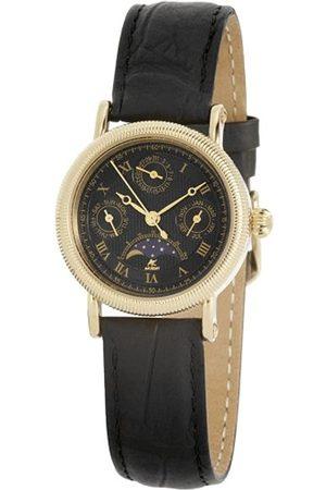 Akzent Mujer Relojes - 352501019001 - Reloj analógico de mujer de cuarzo con correa de piel negra